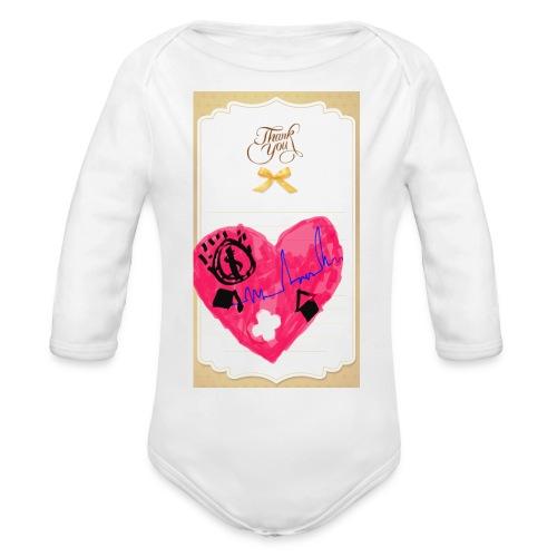 Heart of Economy 1 - Organic Long Sleeve Baby Bodysuit