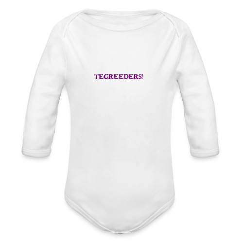 Tegreeders all baby MERCH! - Organic Long Sleeve Baby Bodysuit