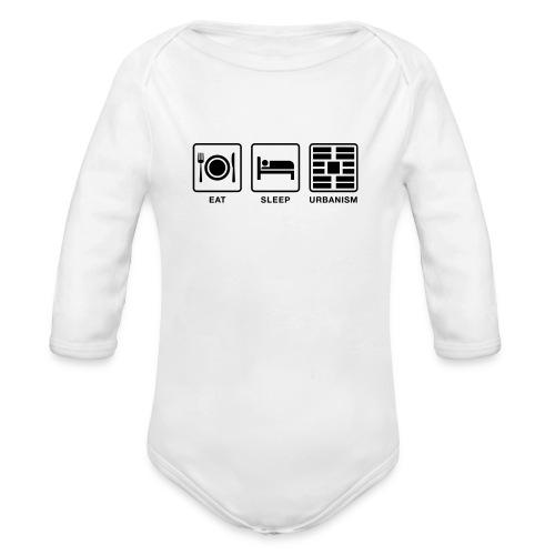 Eat Sleep Urb big fork - Organic Long Sleeve Baby Bodysuit