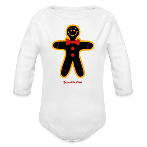 Christmas Cookie Man - Organic Long Sleeve Baby Bodysuit