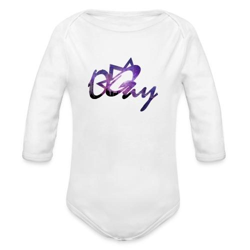 Night Sky City - Organic Long Sleeve Baby Bodysuit