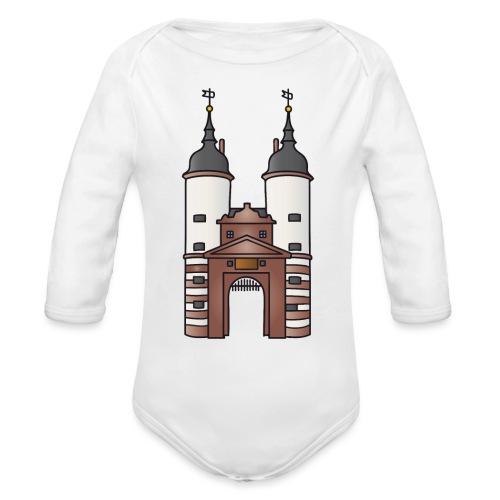 Bridge gate Heidelberg, FRG - Organic Long Sleeve Baby Bodysuit