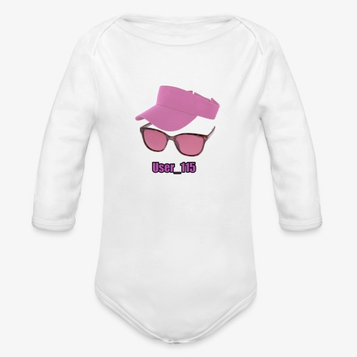 Glasses And Hat - Organic Long Sleeve Baby Bodysuit