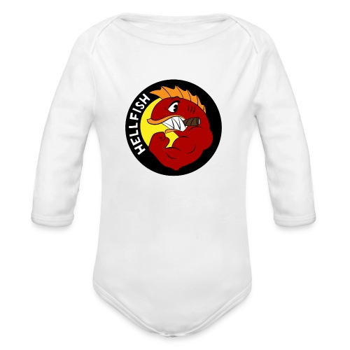 Hellfish - Flying Hellfish - Organic Long Sleeve Baby Bodysuit