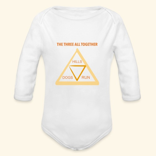 Run4Dogs Triangle - Organic Long Sleeve Baby Bodysuit
