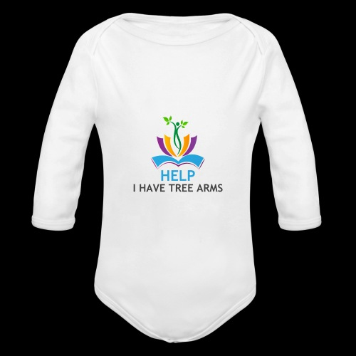 Do you have TREE ARMS? Need help with that? - Organic Long Sleeve Baby Bodysuit