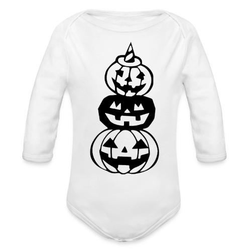 Pumpkins - Organic Long Sleeve Baby Bodysuit