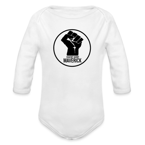 Seacret Agent Maverick - White Shirts - Organic Long Sleeve Baby Bodysuit
