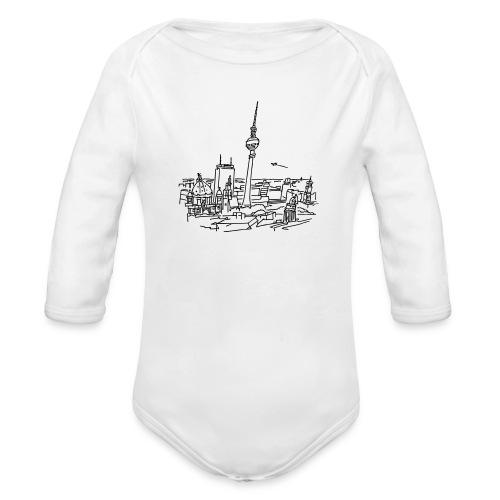 Panorama of Berlin - Organic Long Sleeve Baby Bodysuit