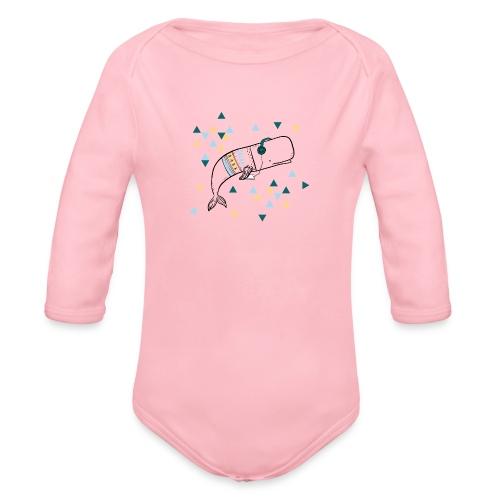 Music Whale - Organic Long Sleeve Baby Bodysuit