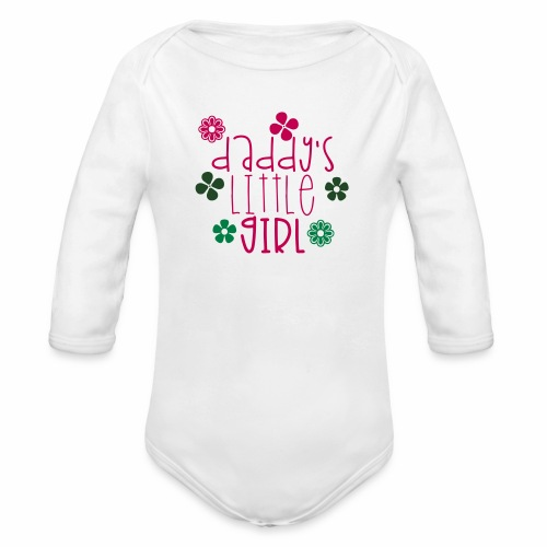 DADDY'S LITTLE GIRL - Organic Long Sleeve Baby Bodysuit