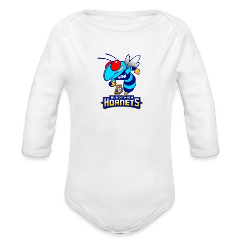 Hornets FINAL - Organic Long Sleeve Baby Bodysuit