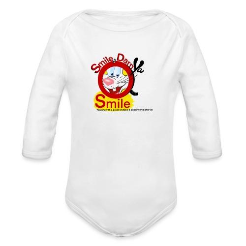 Smile Darn Ya Smile - Organic Long Sleeve Baby Bodysuit