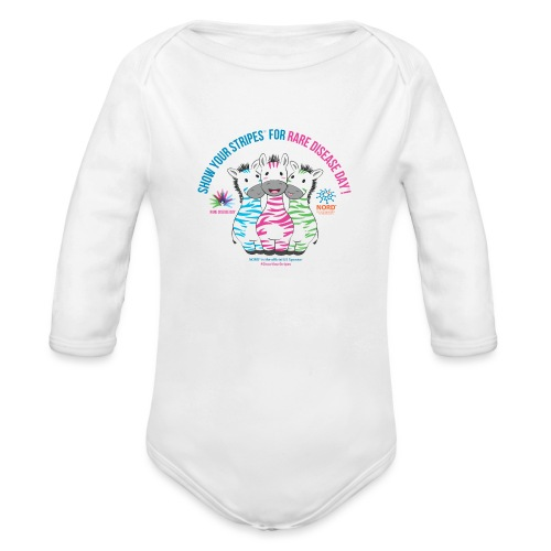 Show Your Stripes for Rare Disease Day! - Organic Long Sleeve Baby Bodysuit