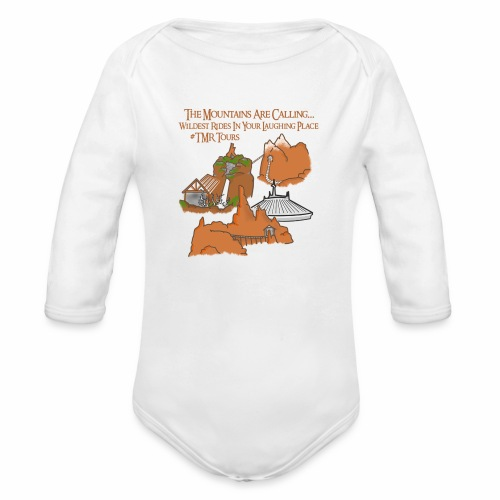 Mountains Are Calling - TMR - Organic Long Sleeve Baby Bodysuit
