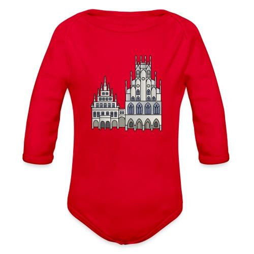 Town Hall Münster, Cityhall, Mayor - Organic Long Sleeve Baby Bodysuit
