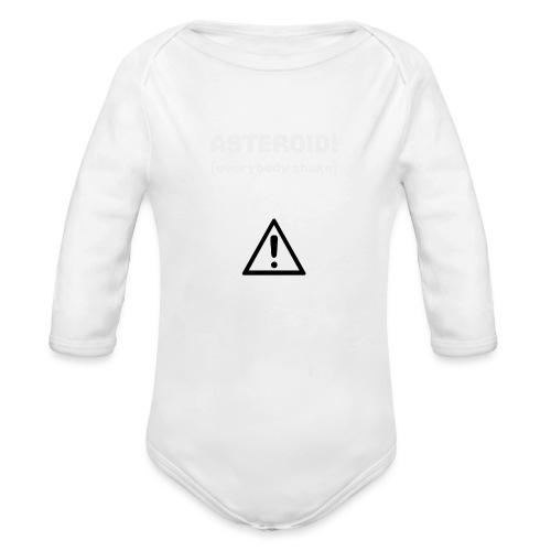 Spaceteam Asteroid! - Organic Long Sleeve Baby Bodysuit