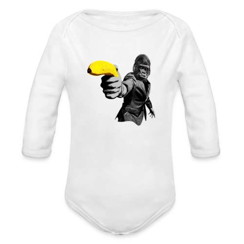 Officer Ape 001 - Organic Long Sleeve Baby Bodysuit