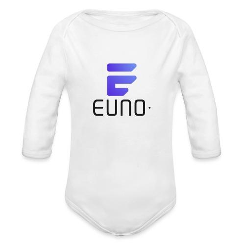EUNO LOGO POTRAIT BLACK FONT - Organic Long Sleeve Baby Bodysuit