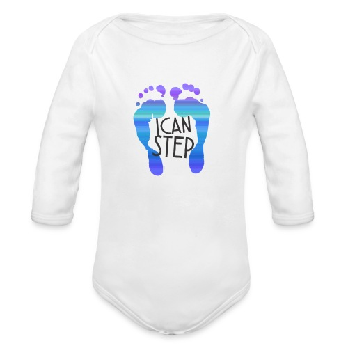 I.C.A.N.S.T.E.P. MOTTO - Organic Long Sleeve Baby Bodysuit