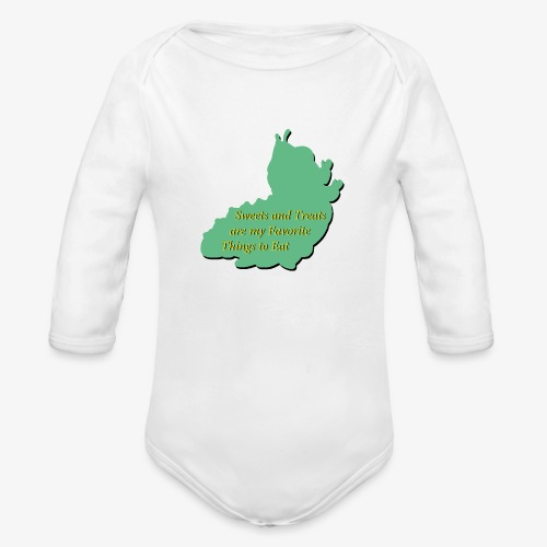 Sweets and Treats on the Chew Chew Train - Organic Long Sleeve Baby Bodysuit