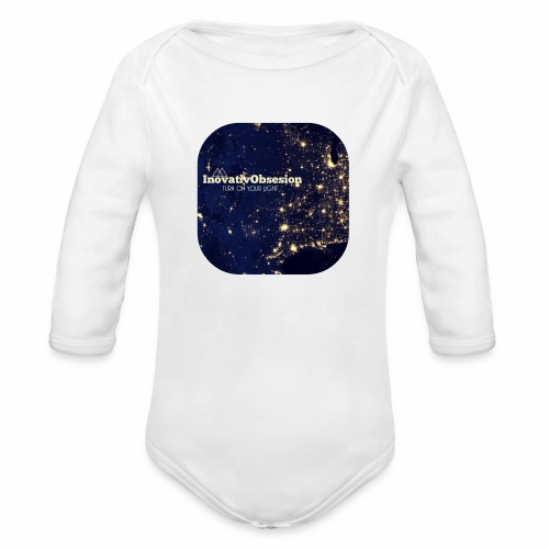 "InovativObsesion ""TURN ON YOU LIGHT"" Apparel - Organic Long Sleeve Baby Bodysuit"