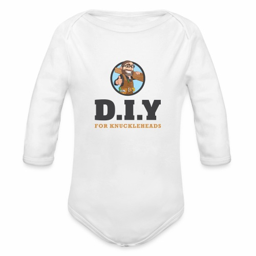 DIY For Knuckleheads Logo - Organic Long Sleeve Baby Bodysuit