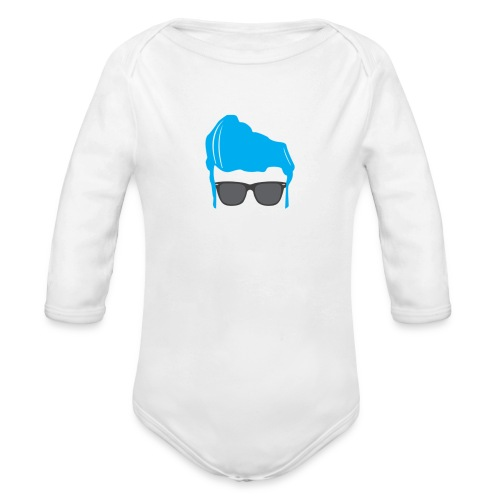 Geo Rockstar (him) - Organic Long Sleeve Baby Bodysuit
