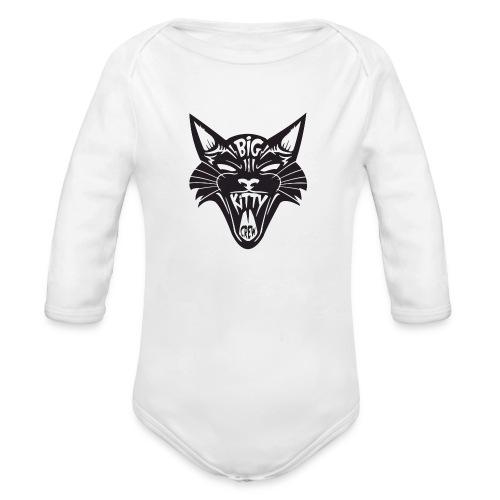 Big Kitty-Screaming Cat - Organic Long Sleeve Baby Bodysuit