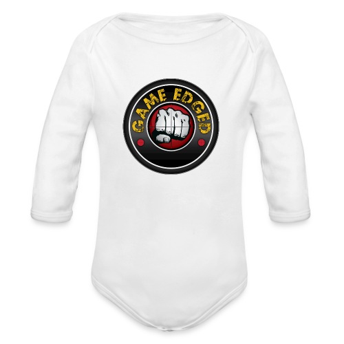 Men's Game Edged Logo Tshirt with So Be It On the - Organic Long Sleeve Baby Bodysuit