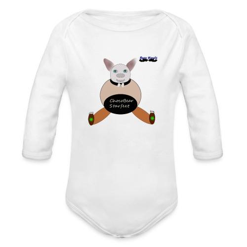 Girls ChocoBear Flare Shirt - Organic Long Sleeve Baby Bodysuit