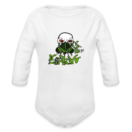 Leaking Gas Mask - Organic Long Sleeve Baby Bodysuit