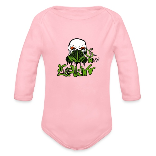 Leaking Gas Mask - Organic Long Sleeve Baby Bodysuit