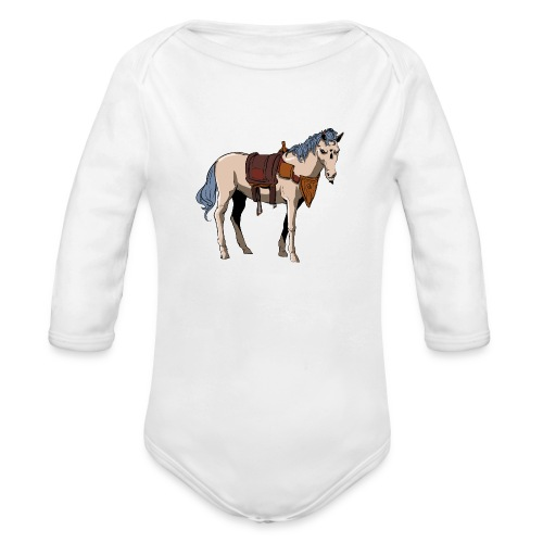 Useless the Horse png - Organic Long Sleeve Baby Bodysuit