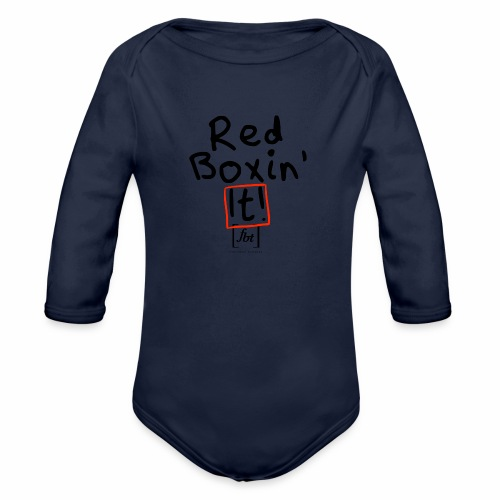 Red Boxin' It! [fbt] - Organic Long Sleeve Baby Bodysuit