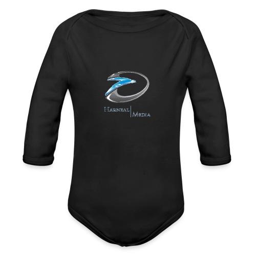 Harneal Media Logo Products - Organic Long Sleeve Baby Bodysuit