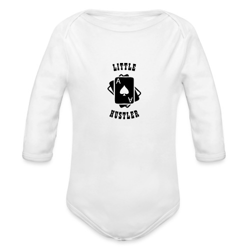 Little Hustler - Organic Long Sleeve Baby Bodysuit