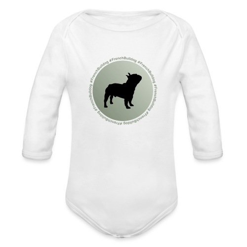 French Bulldog - Organic Long Sleeve Baby Bodysuit