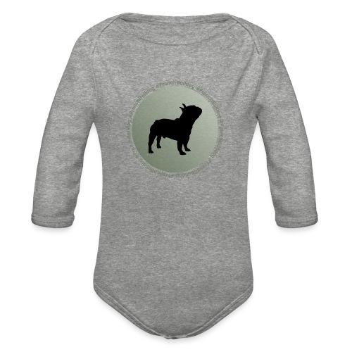 French Bulldog - Organic Long Sleeve Baby Bodysuit