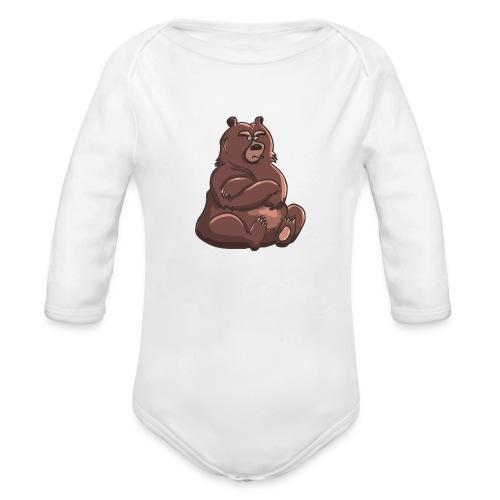 Bear in Contempt T-Shirt - Organic Long Sleeve Baby Bodysuit