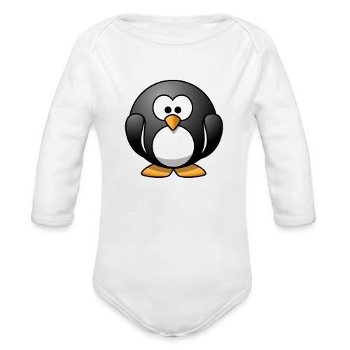 Funny Penguin T-Shirt - Organic Long Sleeve Baby Bodysuit