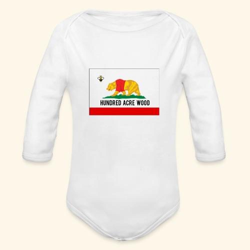Golden Honey State - Organic Long Sleeve Baby Bodysuit