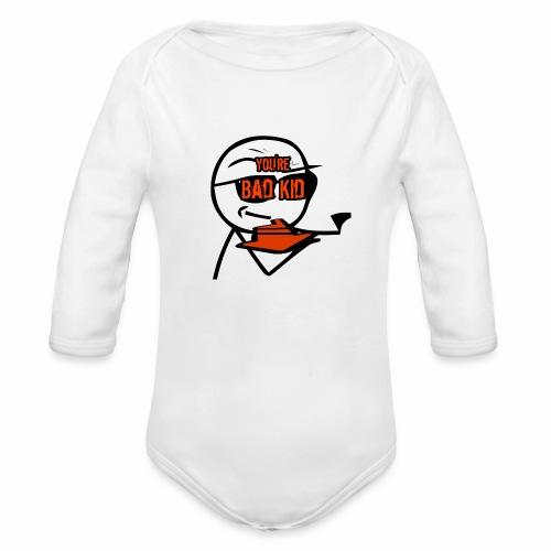 BAD KID - Organic Long Sleeve Baby Bodysuit