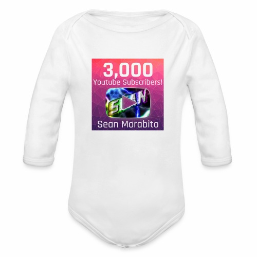 Sean Morabito's 3000 Sub's Logo - Organic Long Sleeve Baby Bodysuit