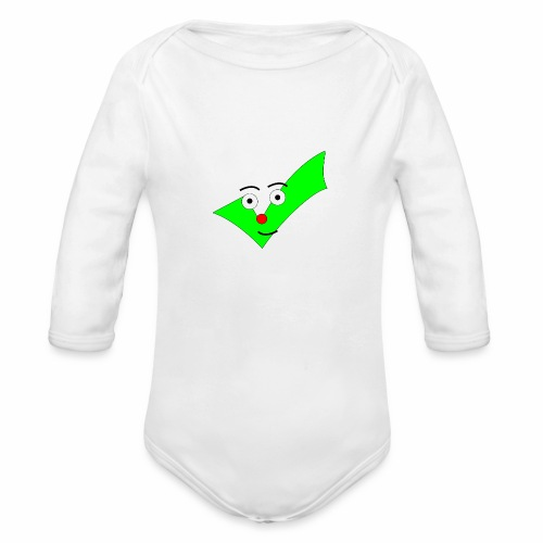 BABY DESIGN CHECKMARK SHIRT! - Organic Long Sleeve Baby Bodysuit