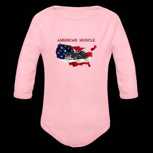 US Muscle - Organic Long Sleeve Baby Bodysuit