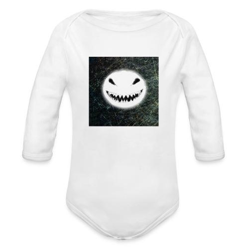 Angry Snowman - Organic Long Sleeve Baby Bodysuit