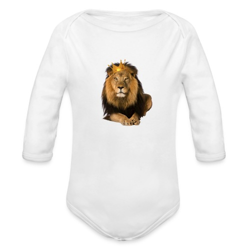 King - Organic Long Sleeve Baby Bodysuit