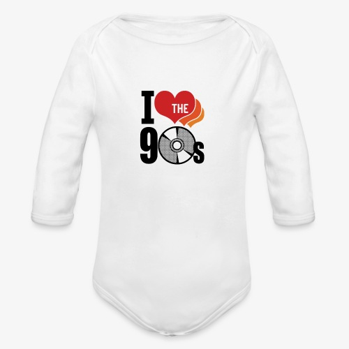 I love the 90s - Organic Long Sleeve Baby Bodysuit