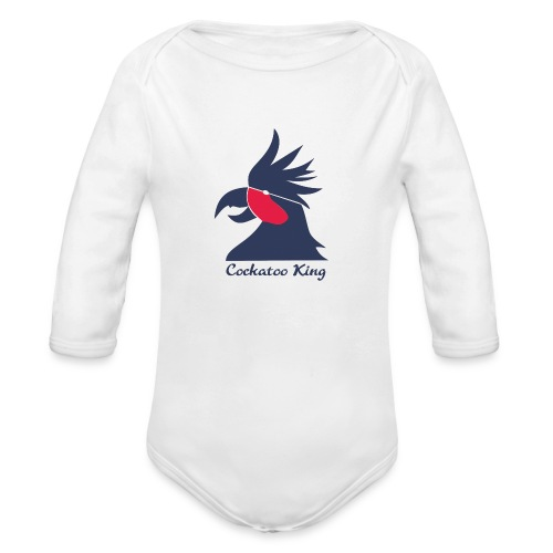 Cockatoo Logo - Organic Long Sleeve Baby Bodysuit